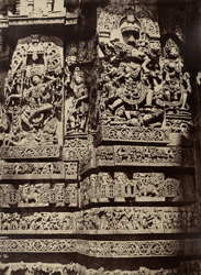 Hullabeed. The Great Temple. Sculptures on the west front. [Hoysaleshwara Temple, Halebid.] 965121